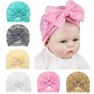 Newborn Baby Infant Hat Boy&Girl BowKnot Lace Beanie Headwear Cap Toddler Hats