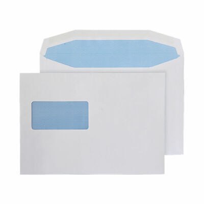 Q-Connect Machine Envelope 162x238mm Window Gummed 80gsm White (Pack of 500)
