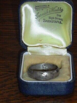 Nice Medieval Silver Wedding Ring c. 15th-16th Century Makers Mark Size T 1/4.