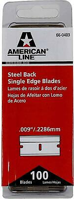 """American Line by Personna Single Edge Blades x 100 0.009""""  Oven Cleaning Blades"""