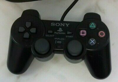 SONY Playstation PS2 Black Controller SCPH-10010 Official 17/01J