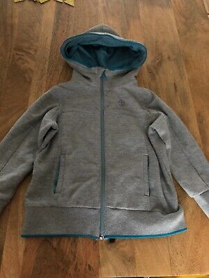 Ted Baker Boys Grey & Turquoise Hooded Zip Jacket. Age 4-5 Years RRP£28