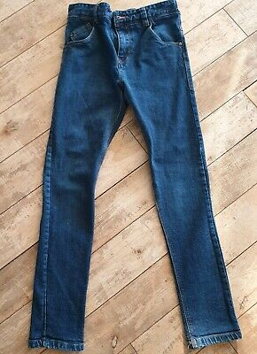 Boys Skinny Next Jeans Age 12 Years Dark Blue In Very Good Condition