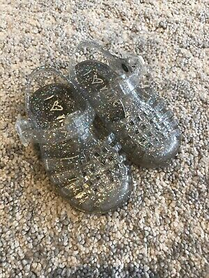 NEXT Clear And Sparkle Baby Toddler Jelly Shoes Size 4