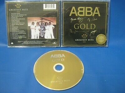 CD ALBUM ABBA GOLD GREATEST HITS PRINTED SIGNATURES ON FRONT CASE Auction 401