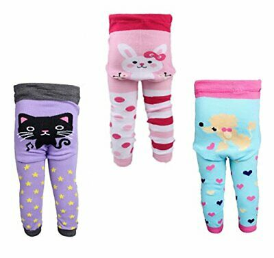 [Backbuy] 3 Pants 0-24 Months Baby Girls Toddler Leggings trousers Knitted pants