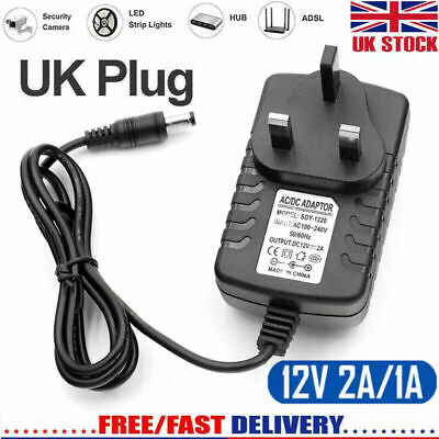 Universal AC/DC 12V 1A Mains Power Supply Adapter Charger Transformer UK Plug