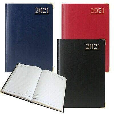 2020 diary A4/A5 Week to View Diary Hardback Metal Corner Casebound Back cover
