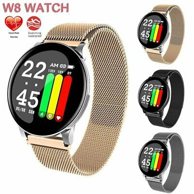 W8 Smart Watch Men Women Heart Rate Blood Oxygen Pressure Fitness Bracelet UK