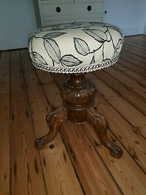 Antique Victorian Piano Stool