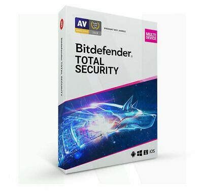 Bitdefender Total Security Multidevice 2020 10 PC Geräte VPN 3 Jahre