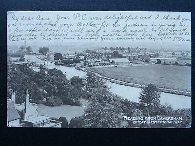 Great Western Railway READING from CAVERSHAM c1905 Postcard GWR Offical