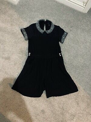 next girls playsuit Shorts Black Age 9 Sparkly Silver Detailing Party Outfit