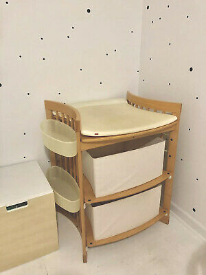 Scandinavian Design Stokke Care Changing Table w/Accessories, Natural