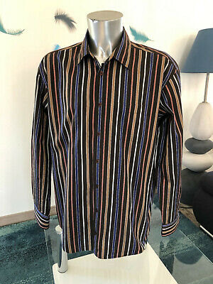 Pretty Shirt Brown Striped eden park Club House Size XXL like New