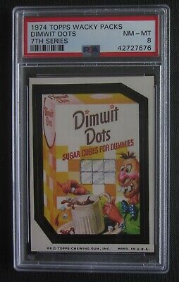 1974 Topps Wacky Packages Dimwit Dots 7th Series 7 PSA 8 NMMT