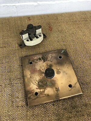Antique Recovered Brass Doorbell Door Bell Button & Mechanism