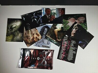 Vtg. 1997 X-Files Season 3 Topps Trading Cards: Open Pack 9 Cards Total
