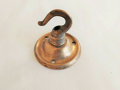 Vintage Heavy Solid  Brass Ceiling Hook Sconce