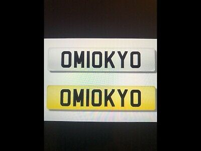 PERSONALISED NUMBER PLATES Micky om10 kyo