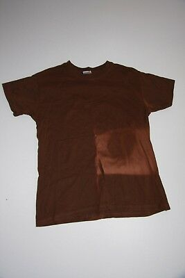 Boys brown t-shirt with designer bleaching - age 11 to 12 years