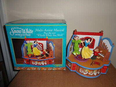 Enesco Disney Snow White * the Seven Dwarfs Revolving Music Box NIB