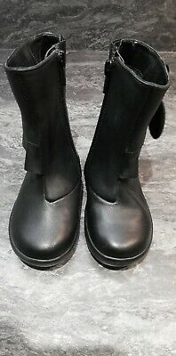 Girls Boots *  Black Leather * BNWT * M&S * Size 5