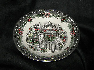 Royal Stafford Christmas Home Cereal / Soup Bowls - 4 - New - Made In England