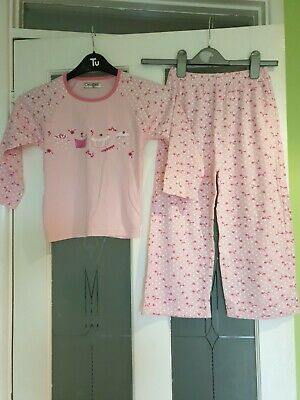 Girls Pink Cotton Pyjamas Set Age 5-6years