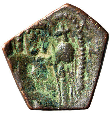 ARCHANGEL MICHAEL Byzantine Coin of Latin Ruler of Constantinople CERTIFIED