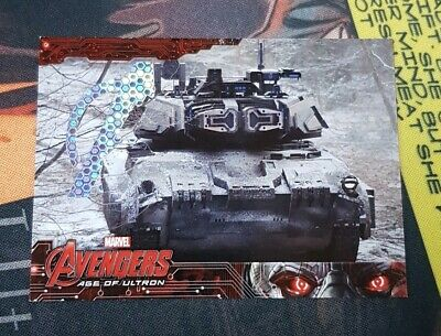 2015 UD Marvel Avengers Age Of Ultron Patterned Foil #/10 (extremely rare)