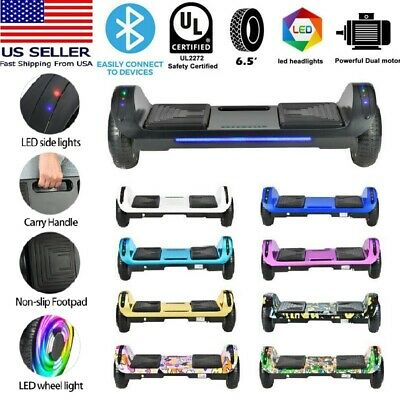 "6.5"" Bluetooth Hoverboard Self Balance Electric Scooter UL no Bag LED Best Gifts"