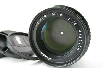 【EXC++++】Nikon Ai-S Nikkor 50mm f/1.4 MF Ais Lens for F Mount w/ Filter #2428