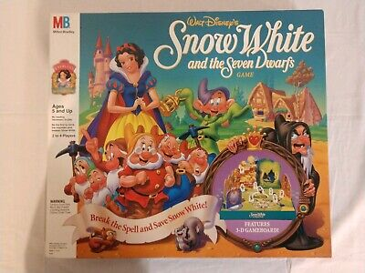Disney - Snow White & Seven Dwarfs 3-D Board Game 1992 - EUC