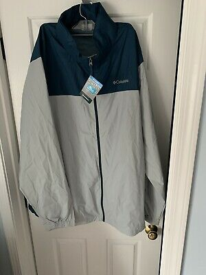 Columbia Men's Glennaker Lake Packable Rain Jacket Gray/Blue 3XLT NWT $75