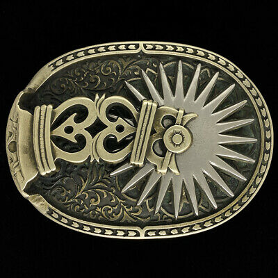 Spinning Spur Spins Boots Cowboy Western Rodeo Western 80s Vintage Belt Buckle