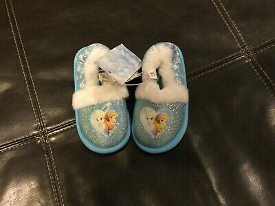 Girls Disney Frozen bedroom slippers size 7-8 new with tags