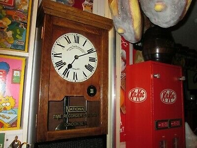 national time  recorder /clocking in clock