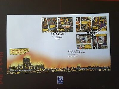 GB 2016 First Day Cover Great Fire Of London London EC3 pmk