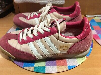 Women's Ladies Girls Adidas  Dragon Pink Suede/Canvas Trainers Size UK 4.5