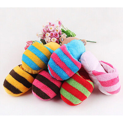 Fantastic Dog Pet Puppy Toy doggy Chew Play Squeaker small Plush Slipper ZY ^S