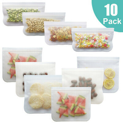 Fresh Zip Lock Bag Reusable Kitchen Food Freezer Storage Lunch Sandwich Bag