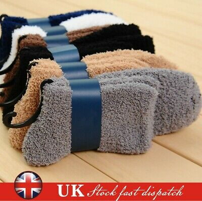 6 Pairs Cosy Bed Socks Mens Fluffy Home Sock Thick Indoor Winter Warm Soft Hot