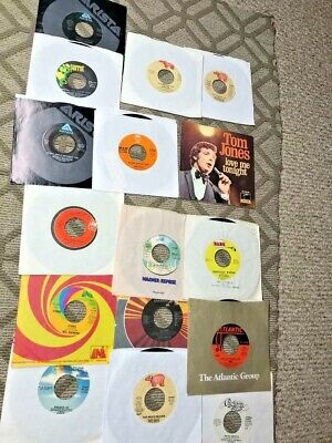 outstanding collection 1960's 1970's rock pop rock and roll LARGE LOT vinyl 45's