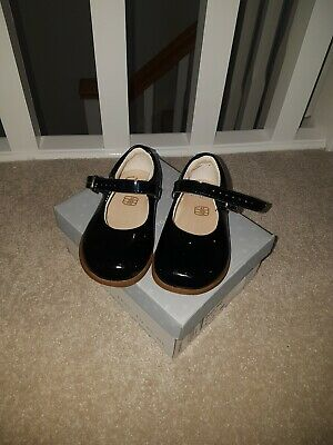 Black patent Clarks Girls Shoes Infant 4f