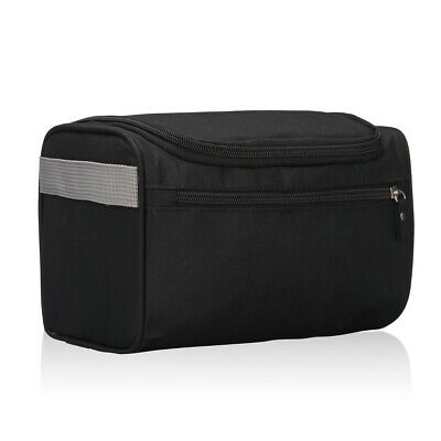 Heavy Duty Waterproof Men's Large Hanging Toiletry Bag with Double Compartments