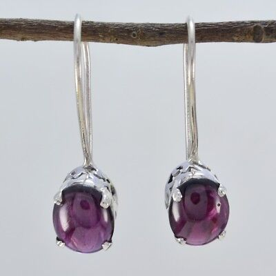 grand Garnet 925 Sterling Silver Red Earring genuine supply US gift