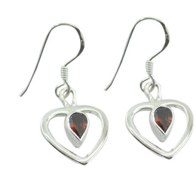 enticing Garnet 925 Sterling Silver Red genuine gemstones US gift