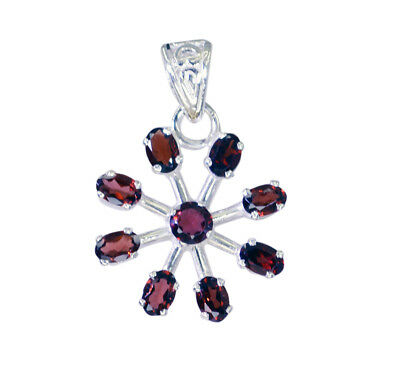 appealing Garnet 925 Sterling Silver Red Pendant Natural jewelry US gift