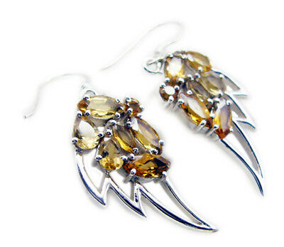 enticing Citrine 925 Sterling Silver Yellow genuine gemstones US gift